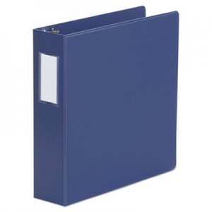 "Genpak Deluxe Non-View D-Ring Binder with Label Holder, 3 Rings, 2"" Capacity, 11 x 8.5, Royal Blue"