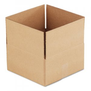 Genpak Brown Corrugated - Fixed-Depth Shipping Boxes, 12l x 12w x 6h, 25/Bundle UFS12126