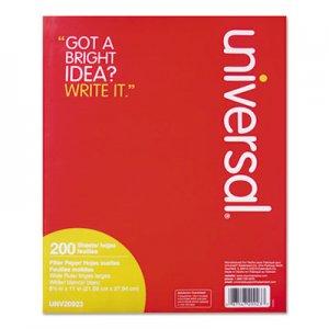 Genpak Filler Paper, 3-Hole, 8.5 x 11, Wide/Legal Rule, 200/Pack UNV20923