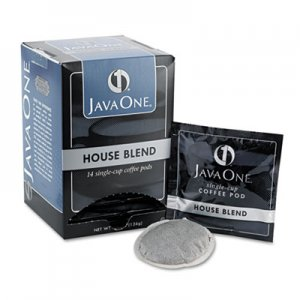 Java One Coffee Pods, House Blend, Single Cup, 14/Box JAV40300 39840306141