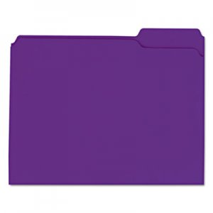 Genpak Reinforced Top-Tab File Folders, 1/3-Cut Assorted, 2-Ply, Letter, Violet, 100/BX UNV16165