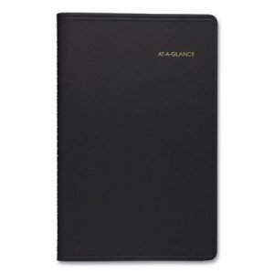 At-A-Glance Weekly Appointment Book, Hourly Appt, Phone/Address Tabs, 4 7/8 x 8, Black, 2020 AAG7010005 70