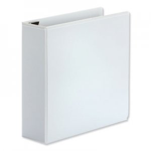 "Genpak Comfort Grip Deluxe Plus D-Ring View Binder, 3"" Capacity, 8-1/2 x 11, White UNV30752"