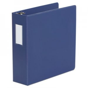 "Genpak Deluxe Non-View D-Ring Binder with Label Holder, 3 Rings, 3"" Capacity, 11 x 8.5, Royal Blue"