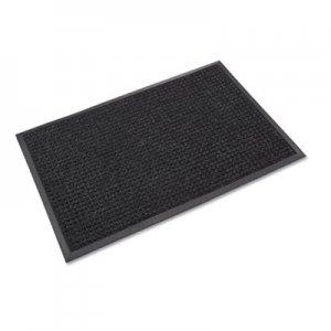 Crown Super-Soaker Wiper Mat w/Gripper Bottom, Polypropylene, 34 x 58, Charcoal CWNSSR035CH SS R035CH
