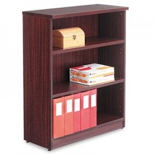 Alera Valencia Series Bookcase, Three-Shelf, 31 3/4w x 14d x 39 3/8h, Mahogany ALEVA634432MY