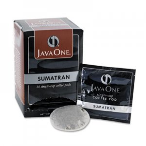 Java One Coffee Pods, Sumatra Mandheling, Single Cup, 14/Box JAV60000 39860006141