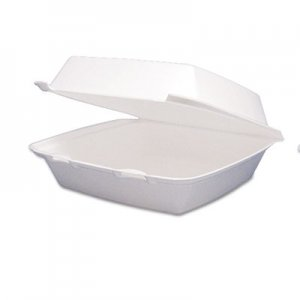 Dart Carryout Food Container, Foam Hinged 1-Comp, 9 1/2 x 9 1/4 x 3, 200/Carton DCC95HT1R