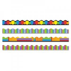 """TREND Terrific Trimmers Border, 2 1/4 x 39"""" Panels, Color Collage Designs, 48/Set TEPT92908 T92908"""