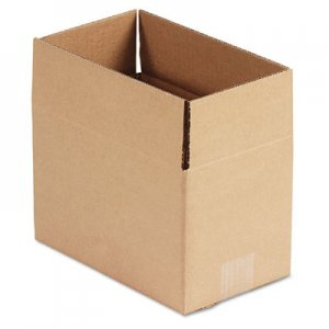 Genpak Brown Corrugated - Fixed-Depth Shipping Boxes, 10l x 6w x 6h, 25/Bundle UFS1066