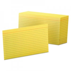 Oxford Ruled Index Cards, 4 x 6, Canary, 100/Pack OXF7421CAN 7421 CAN