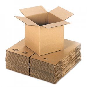 Genpak Brown Corrugated - Cubed Fixed-Depth Shipping Boxes, 12l x 12w x 12h, 25/Bundle UFS121212
