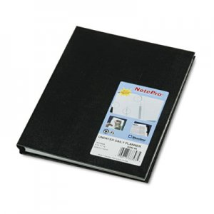 Blueline NotePro Undated Daily Planner, 9-1/4 x 7-1/4, Black REDA29C81 A29C.81