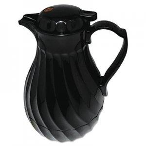 Hormel Poly Lined Carafe, Swirl Design, 64oz Capacity, Black HOR402264B 4022/64B