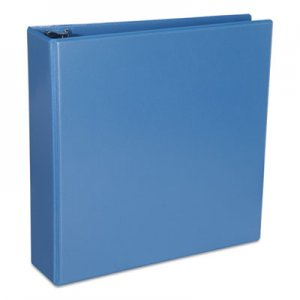 "Genpak Deluxe Round Ring View Binder, 3 Rings, 2"" Capacity, 11 x 8.5, Light Blue UNV20733"