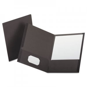 Oxford Linen Finish Twin Pocket Folders, Letter, Gray, 25/Box OXF53405 53405EE