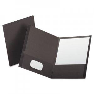 Oxford Linen Finish Twin Pocket Folders, Letter, Gray, 25/Box OXF53405 53405EE