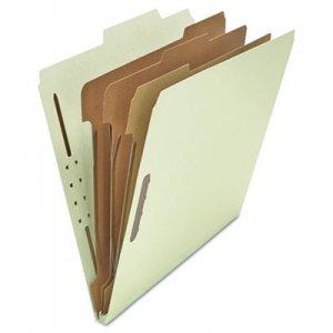 Genpak Pressboard Classification Folder, Letter, Eight-Section, Gray-Green, 10/Box UNV10293