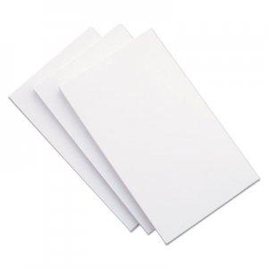 Genpak Unruled Index Cards, 5 x 8, White, 100/Pack UNV47240