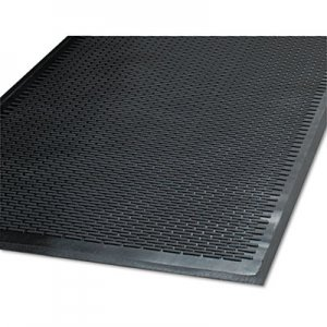 Guardian Clean Step Outdoor Rubber Scraper Mat, Polypropylene, 48 x 72, Black MLL14040600 14040600