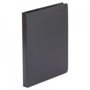 "Genpak Economy Non-View Round Ring Binder, 3 Rings, 0.5"" Capacity, 11 x 8.5, Black UNV30401"