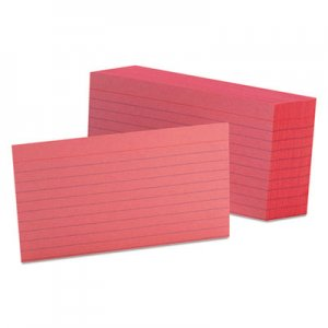 Oxford Ruled Index Cards, 3 x 5, Cherry, 100/Pack OXF7321CHE 7321 CHE