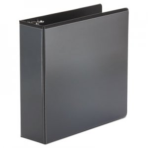 "Genpak Economy Round Ring View Binder, 3"" Capacity, Black UNV20991"