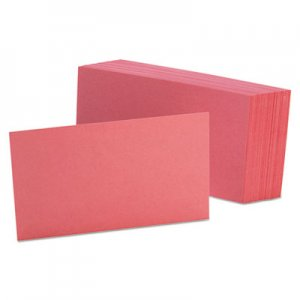 Oxford Unruled Index Cards, 3 x 5, Cherry, 100/Pack OXF7320CHE 7320 CHE
