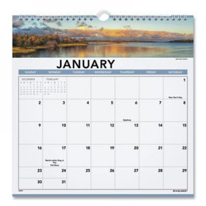 At-A-Glance Landscape Monthly Wall Calendar, 12 x 12, 2019 AAG88200 88200