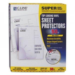 C-Line Super Heavyweight Vinyl Sheet Protectors, Nonglare, 2 Sheets, 11 x 8 1/2, 50/BX CLI61018 61018