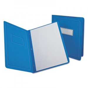 Oxford Report Cover, 3 Fasteners, Panel and Border Cover, Letter, Light Blue, 25/Box OXF52501 52501EE