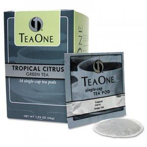 Tea One Tea Pods, Tropical Citrus Green, 14/Box JAV20700 39820706141