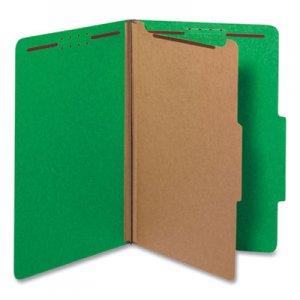 Genpak Pressboard Folder, Legal, Four-Section, Emerald Green, 10/Box UNV10212