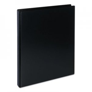 "Genpak Deluxe Round Ring View Binder, 3 Rings, 0.5"" Capacity, 11 x 8.5, Black UNV20701"