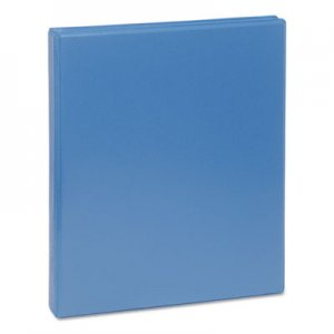 "Genpak Deluxe Round Ring View Binder, 3 Rings, 0.5"" Capacity, 11 x 8.5, Light Blue UNV20703"