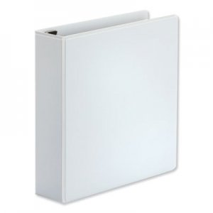 """Universal Comfort Grip Deluxe Plus D-Ring View Binder, 2"""" Capacity, 8-1/2 x 11, White UNV30732"""