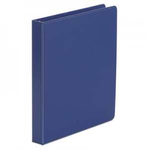 "Genpak Economy Non-View Round Ring Binder, 3 Rings, 1"" Capacity, 11 x 8.5, Royal Blue UNV31402"
