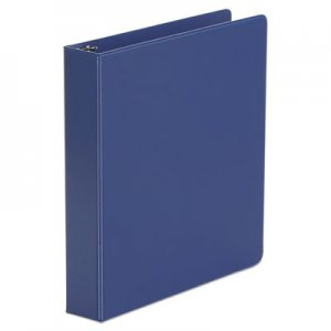 "Genpak Economy Non-View Round Ring Binder, 3 Rings, 1.5"" Capacity, 11 x 8.5, Royal Blue UNV33402"
