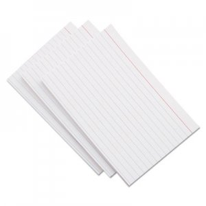 Genpak Ruled Index Cards, 5 x 8, White, 100/Pack UNV47250