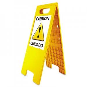 "Headline Sign Floor Tent Sign, Doublesided, Plastic, 10 1/2"" x 25 1/2"", Yellow USS5693 5693"