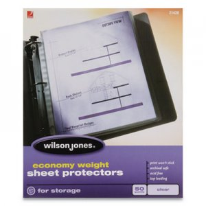 Wilson Jones Economy Weight Top-Loading Sheet Protectors, Letter, 50/Box WLJ21420 W21420