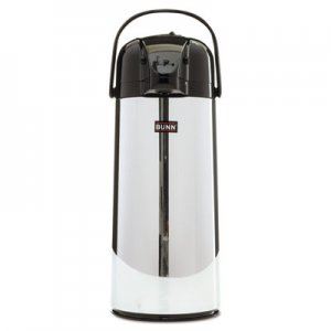 BUNN 2.2 Liter Push Button Airpot, Stainless Steel BUNAIRPOT22 28696.0002