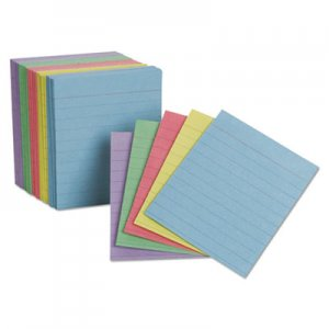 Oxford Ruled Mini Index Cards, 3 x 2 1/2, Assorted, 200/Pack PFX10010 10010EE
