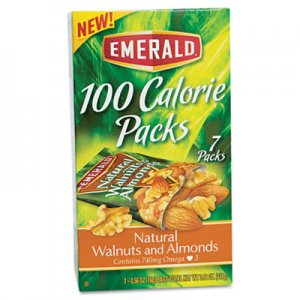 Emerald 100 Calorie Pack Walnuts and Almonds, 0.56 oz Packs, 7/Box DFD54325 109162