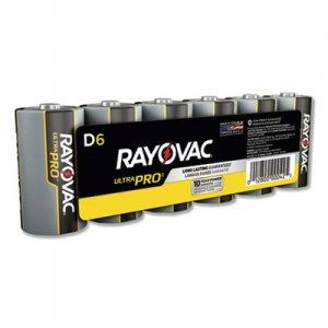 Rayovac Ultra Pro Alkaline D Batteries, 6/Pack RAYALD6J ALD-6J