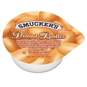 Smucker's Peanut Butter, Single Serving Packs, 3/4oz, 200/Carton SMU2282 5150002282