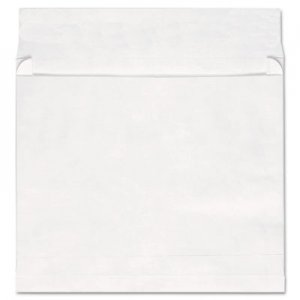 Genpak Deluxe Tyvek Expansion Envelopes, #13 1/2, Cheese Blade Flap, Self-Adhesive Closure, 10 x 13, White, 100/Box