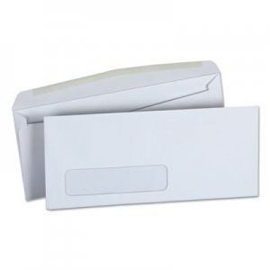 Genpak Window Business Envelope, Side, #10, 4 1/8 x 9 1/2, White, 500/Box UNV36321