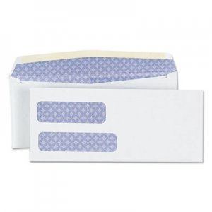 Genpak Double Window Business Envelope, #9, Cheese Blade Flap, Gummed Closure, 3.88 x 8.88, White, 500/Box UNV36301