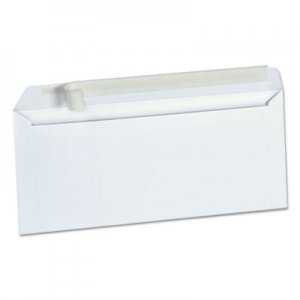 Genpak Peel Seal Strip Business Envelope, #10, Square Flap, Self-Adhesive Closure, 4.13 x 9.5, White, 500/Box